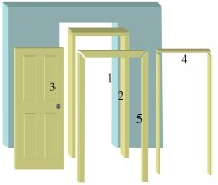 Interior door frames