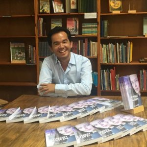Tony at the book signing early in September
