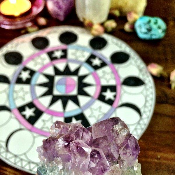 amethyst lunar mandala