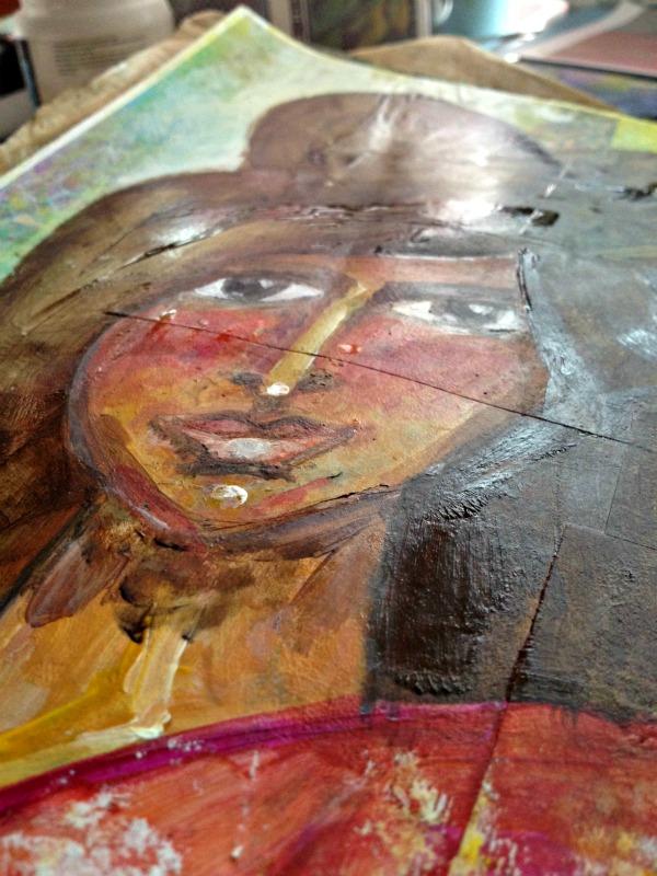 pulled art portrait