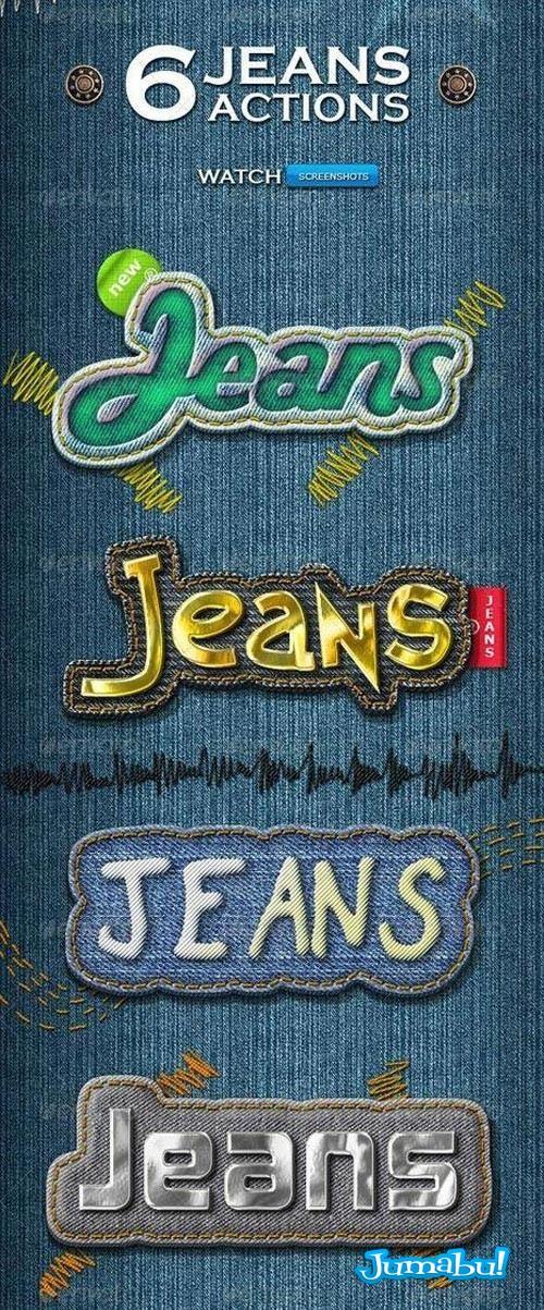 tipografias jeans tipografias photoshop jeans fuentes jeans efecto jeans action acción photoshop