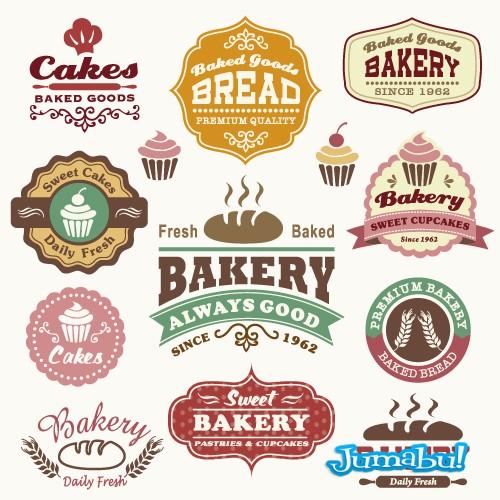 Logos de Panaderías con Estilo Retro en Vectores   Jumabu