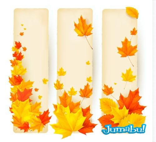 vectorizados vectoriales Vectores otoño naranjas marrones invierno hojas colores arboles