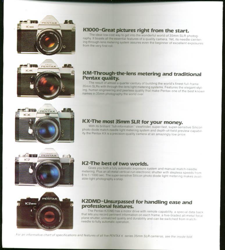 Pentax K1000 KM KX K2 KsDMD 35mm camera folder 1976