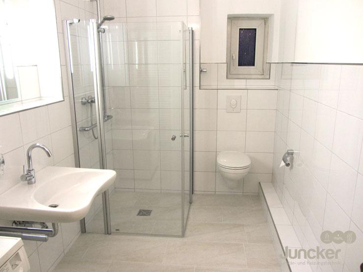 Ihr Fachmann für Bäder in Duisburg u203a Juncker GmbH Duisburg - badezimmer nur mit dusche