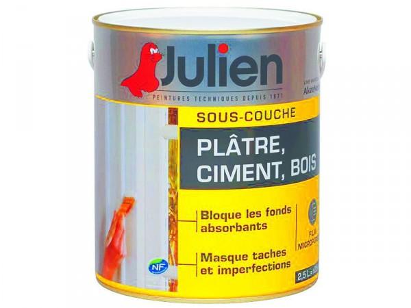 SOUS COUCHE PLATRE/CIMENT/BOIS INTERIEUR 25L - Peinture Julien Sous Couche