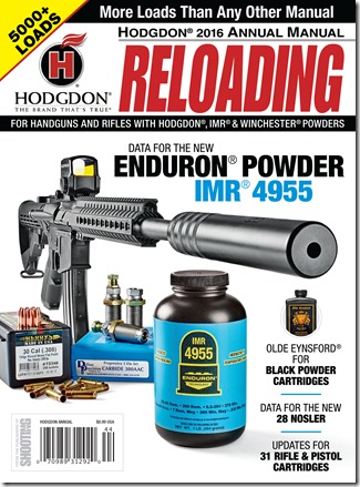 Juniorshooters » HODGDON® 2016 ANNUAL MANUAL© FEATURES MORE THAN