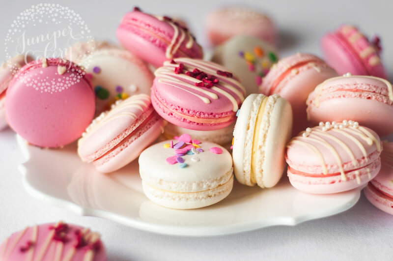 Assorted macarons by Juniper Cakery