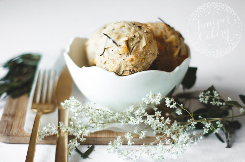 Rosemary and cheddar scones recipe by Juniper Cakery