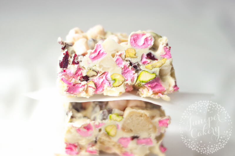 Rocky road with white chocolate from Juniper Cakery