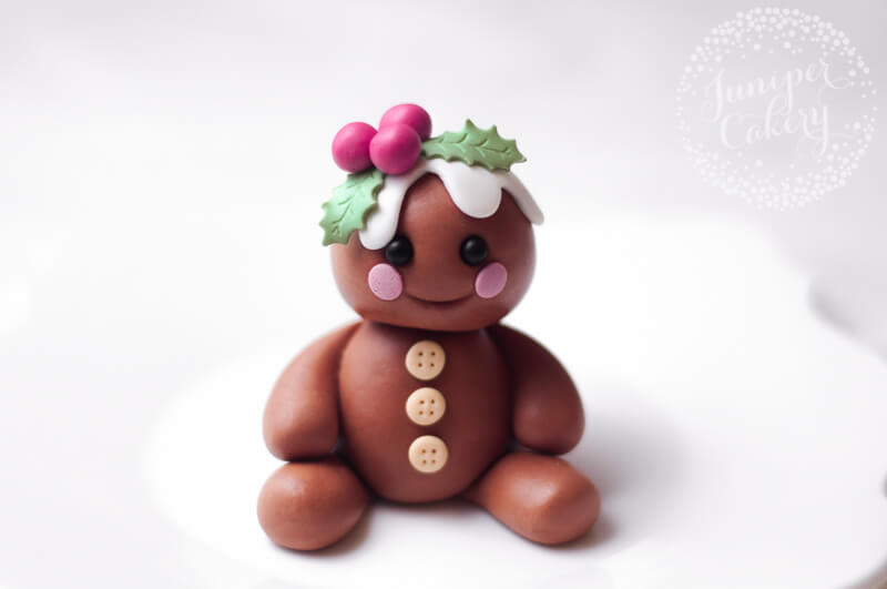 Fondant gingerbread topper tutorial for Christmas