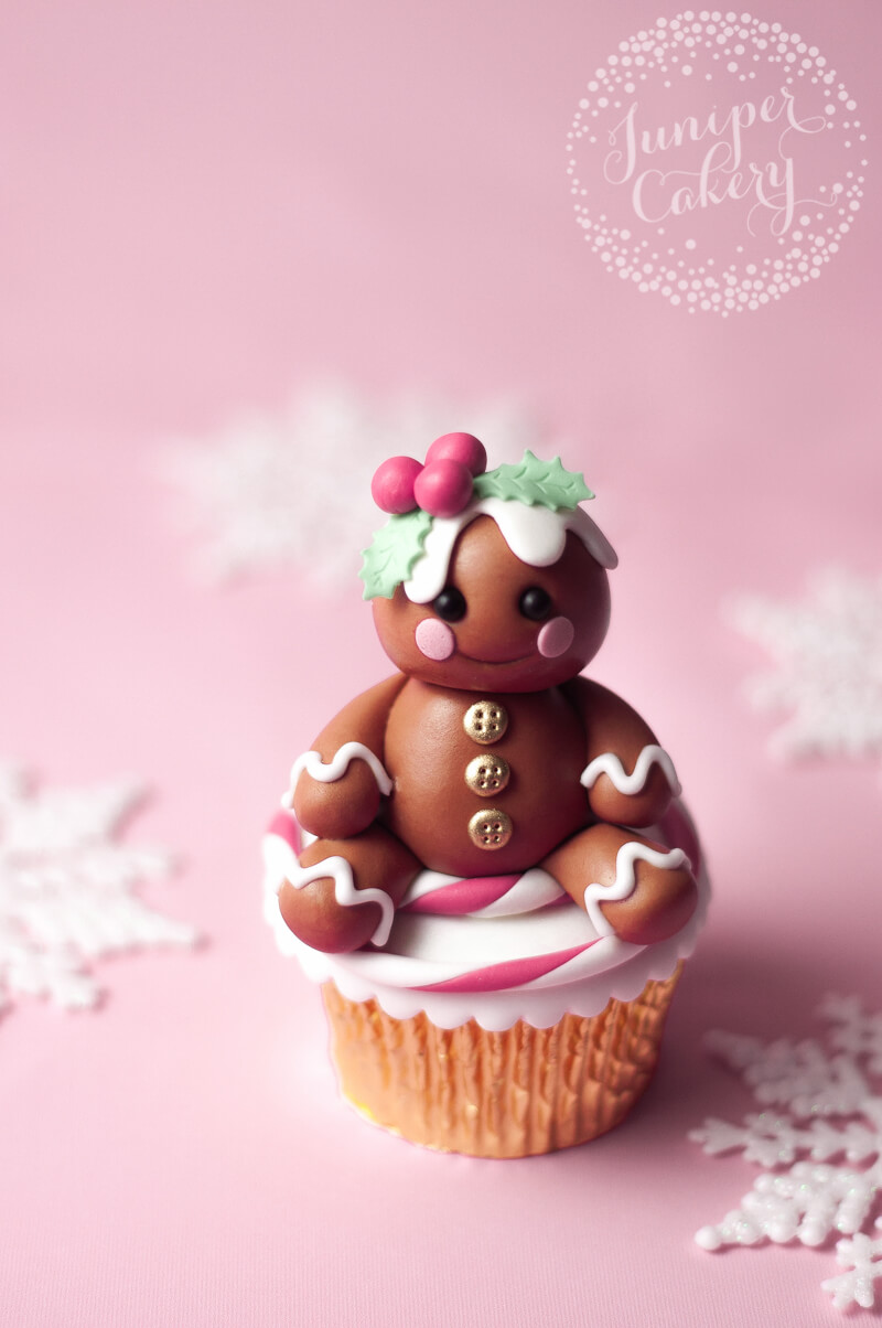 Learn how to make a gingerbread character form fondant