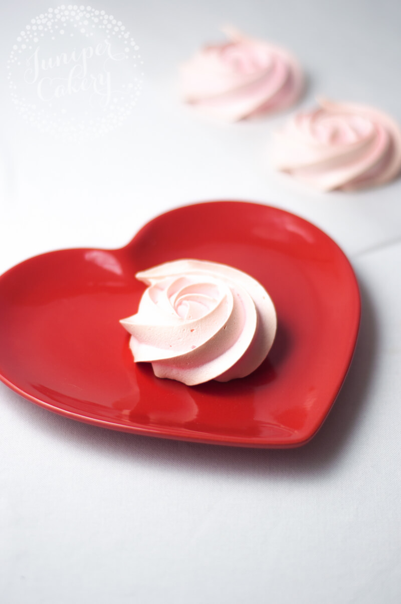 Fun Valentine's Day pavlova recipe by Juniper Cakery