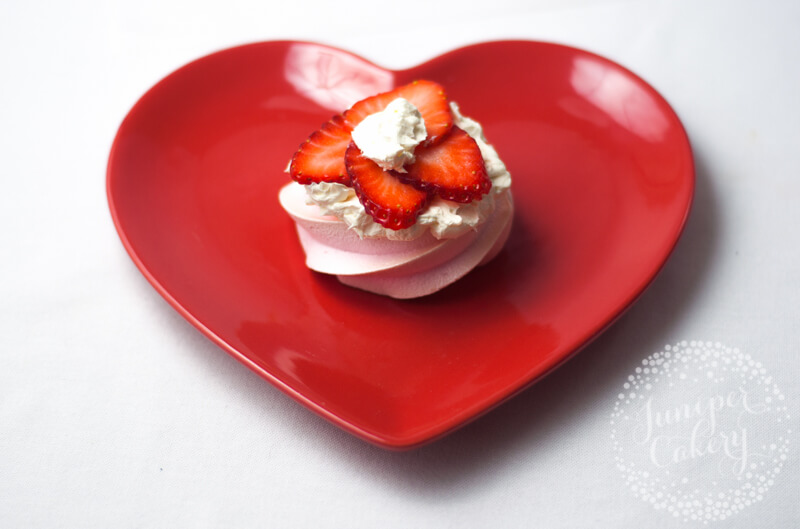 Assemble a Valentine pavlova by Juniper Cakery