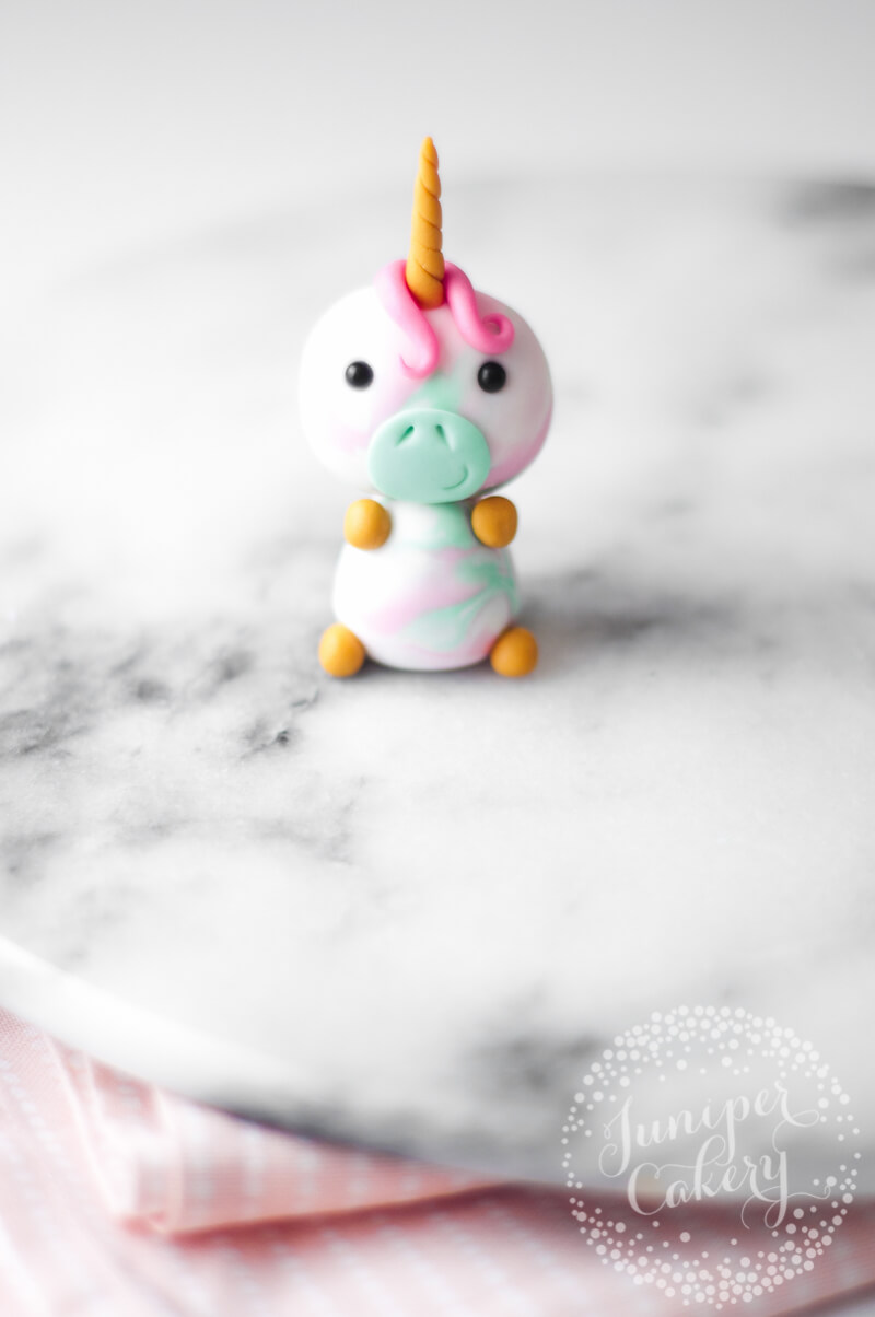 Create a cute unicorn cupcake with this tutorial from Juniper Cakery