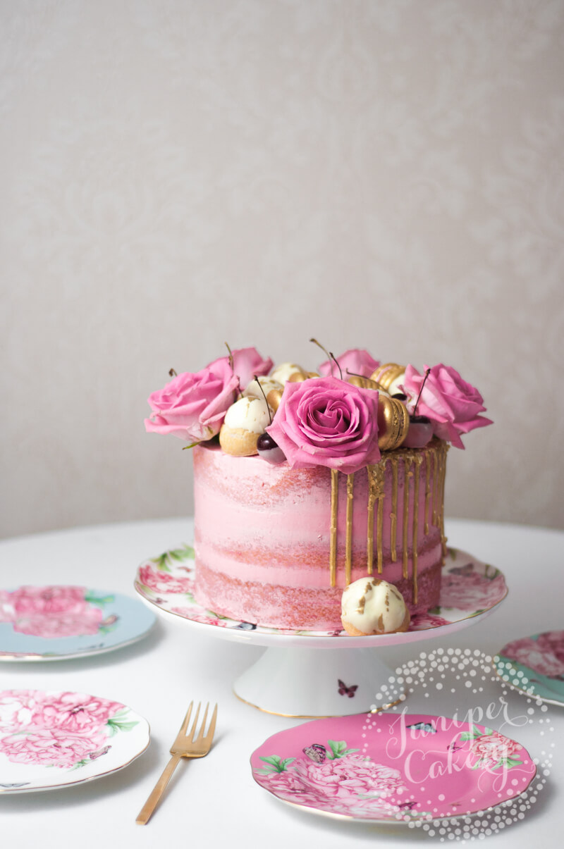 Cherry cake recipe by Juniper Cakery
