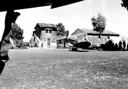 An Italian farmhouse used as No 417 Squadron HQ near Lentini, Sicily, August 26th, 1943.