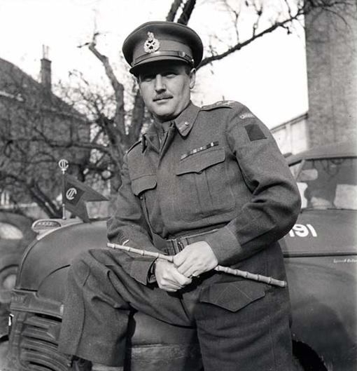 Major-General A.B. Matthews in Nijmegen, the Netherlands, on November 15th, 1944