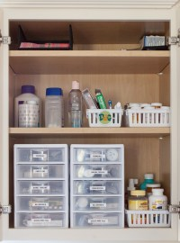 Medicine Cabinet Organization - Just a Girl Blog