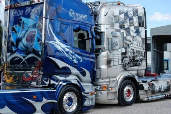 Classic Car Wallpaper Murals Amazing Truck Airbrush On Scania Trucks Justairbrush