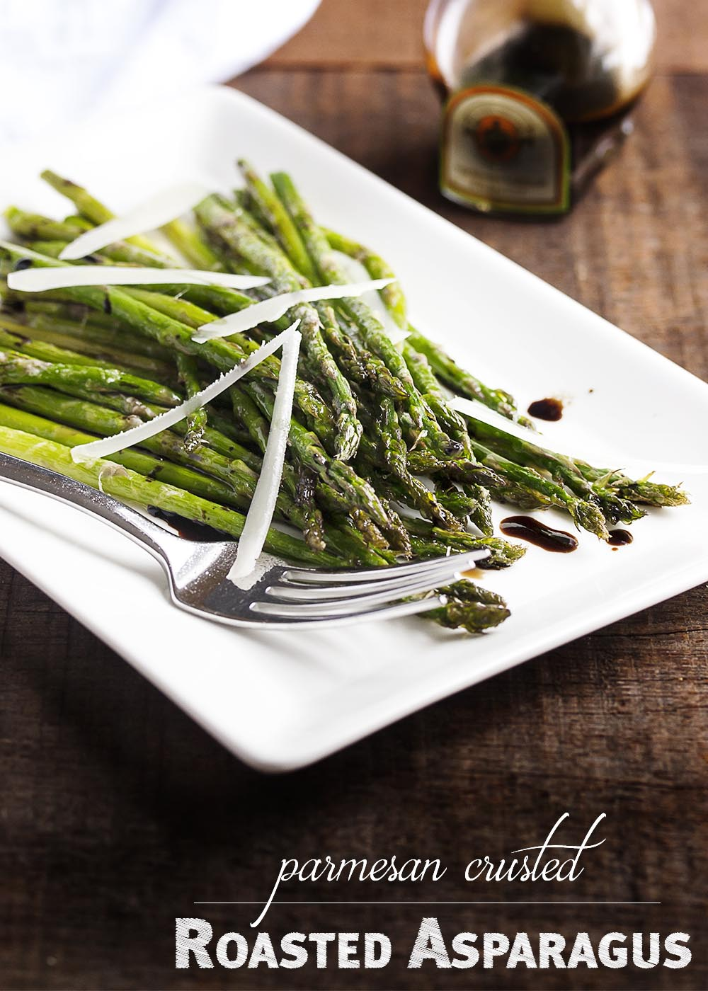 Roasted Asparagus with Parmesan and Balsamic - Asparagus is tossed ...