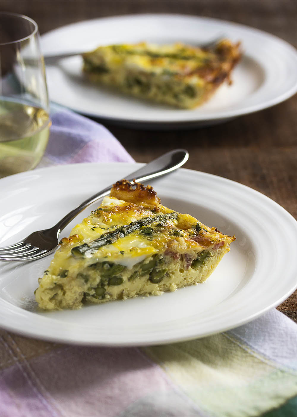Asparagus and bacon crustless quiche just a little bit for Decoration quiche