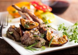 Beauteous Lamb Rib Chops Are Grilled Fresh Fig Port Sauce Just A Little Bit Fresh Grilled Lamb Chops A Sauce Served Lamb Ribs Recipe Gordon Ramsay Lamb Ribs Recipe Oven Rosemary