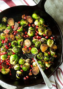 Floor Holiday Side Dish Features Pan Roasted Crispy Pan Roasted Brussels Sprouts This Yummy Winter Pomegranate Seeds Just A Little Deep Fried Brussel Sprouts Balsamic Deep Fried Brussel Sprouts Recipe