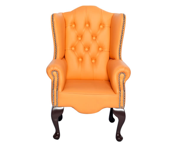 Amerigo Peach Faux Leather Childrens Chair Uk Delivery