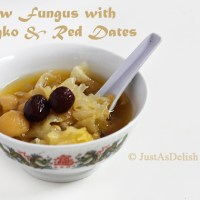 Snow Fungus with Gingko & Red Dates: Healthy Chinese Dessert