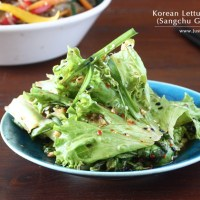 Korean Lettuce Salad (Sangchu Geotjeori)