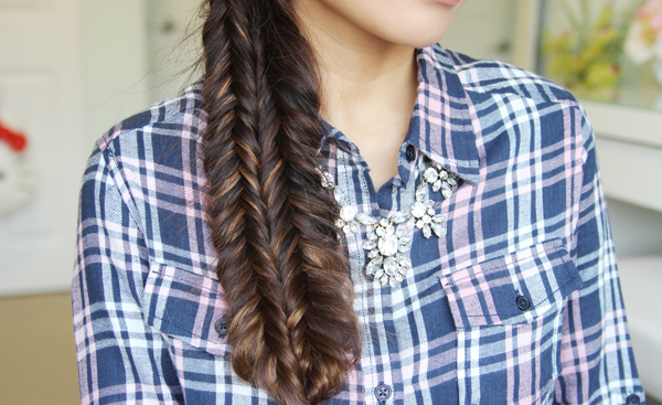 Double Fishtail Braid Hairstyle by Bebexo