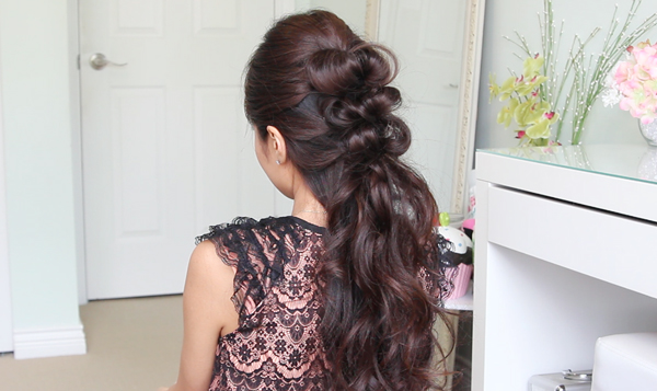 Elegant Faux Hawk Hair| Prom Hairstyle