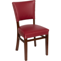 Chairs : Wood Upholstered Flared Pullover Back Chair
