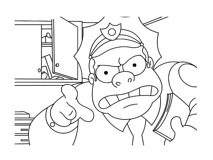 The Simpsons Free To Color For Children The Simpsons