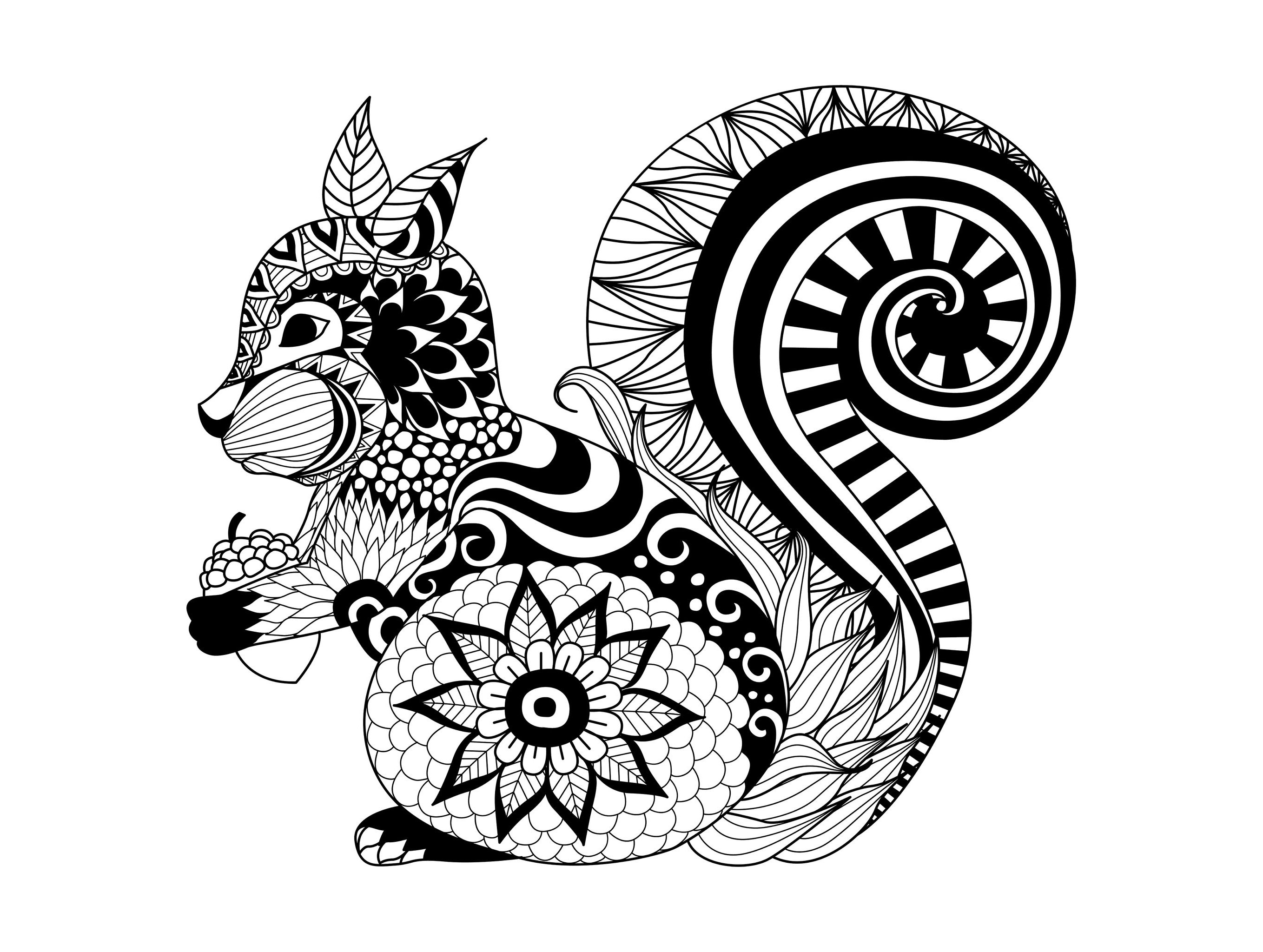 Free coloring pages for adults of animals - Download Coloring Adult