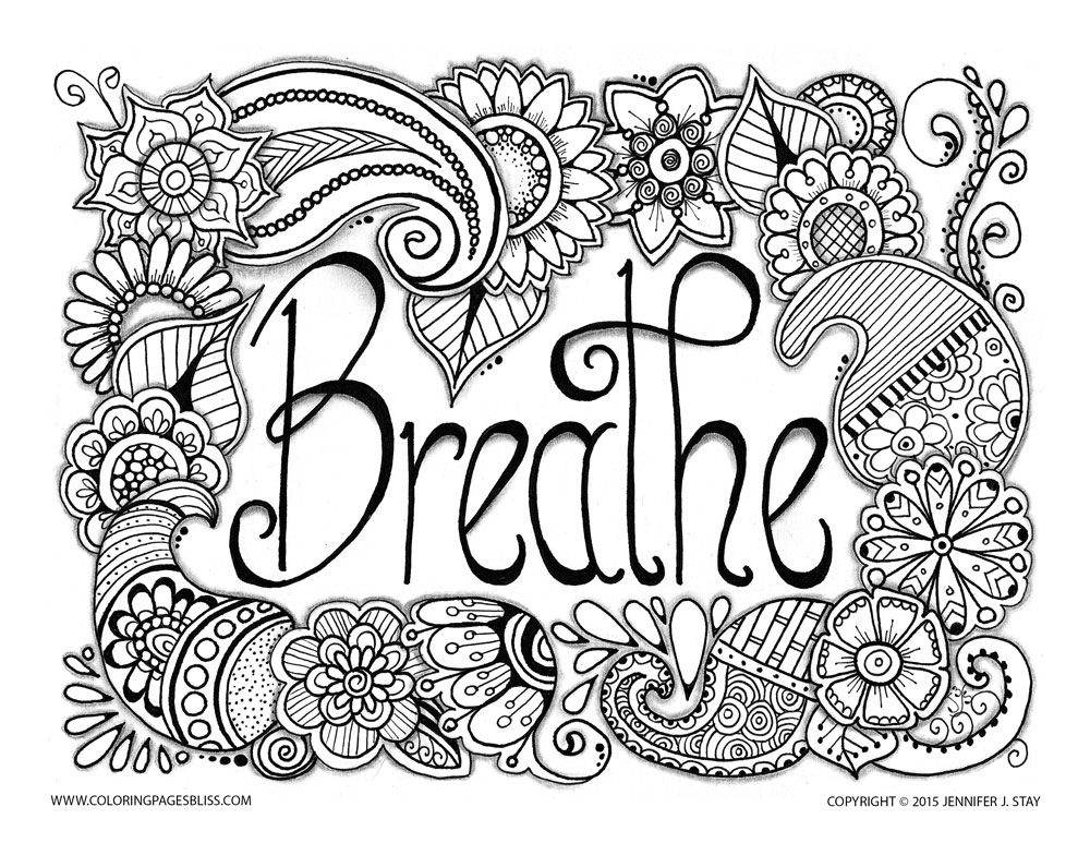 Anti stress jennifer 3 - Anti stress Adult Coloring Pages - culring pags