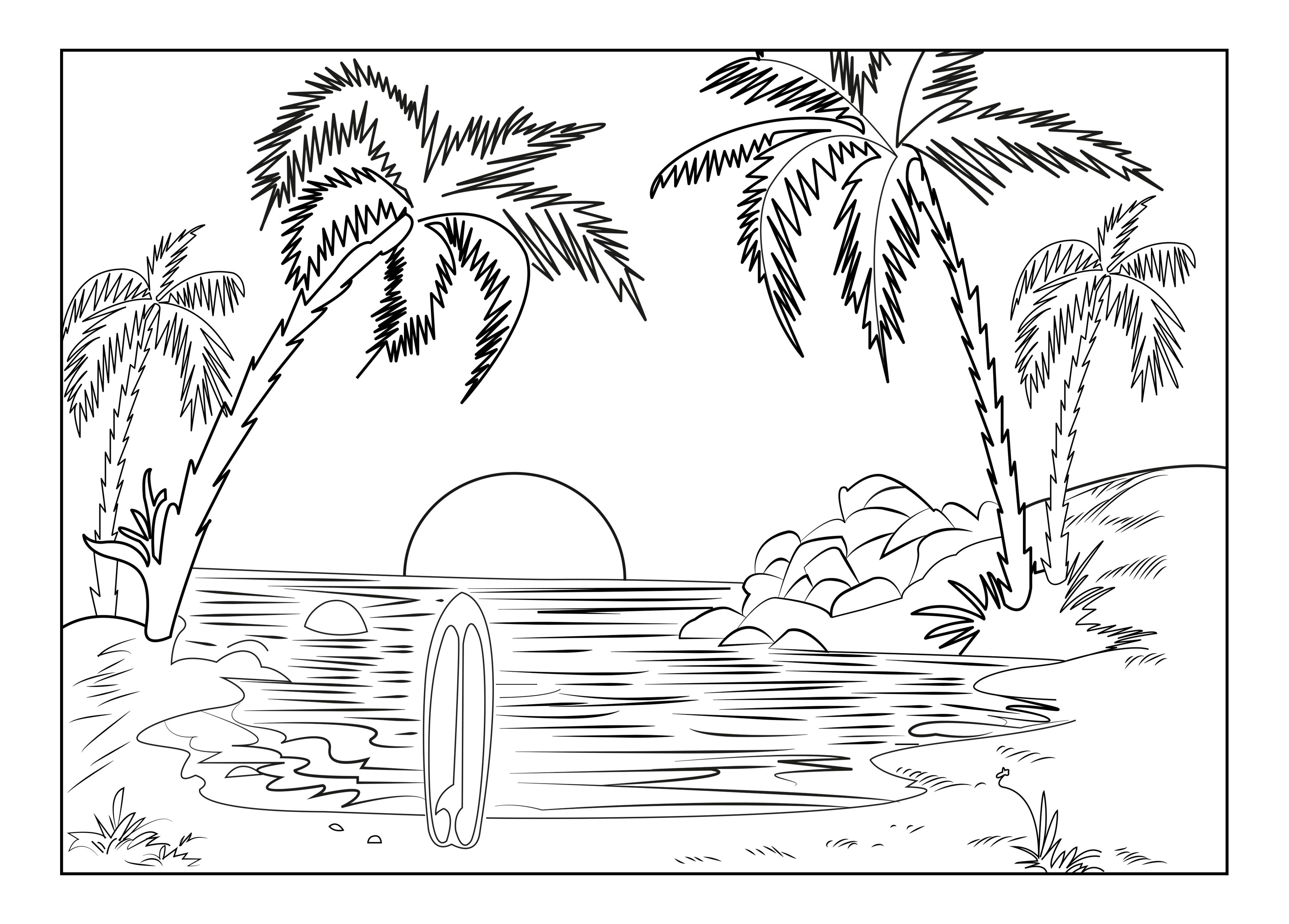 Coloring page adults landscape celine free to print