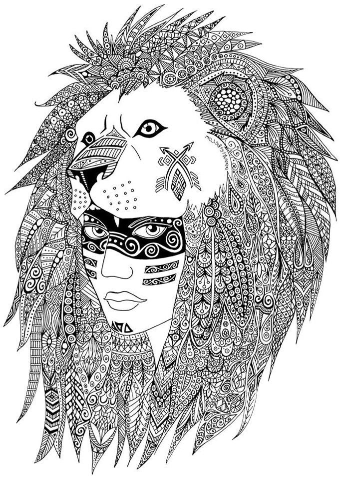 Native American - Coloring Pages for Adults - best of indian tribal coloring pages