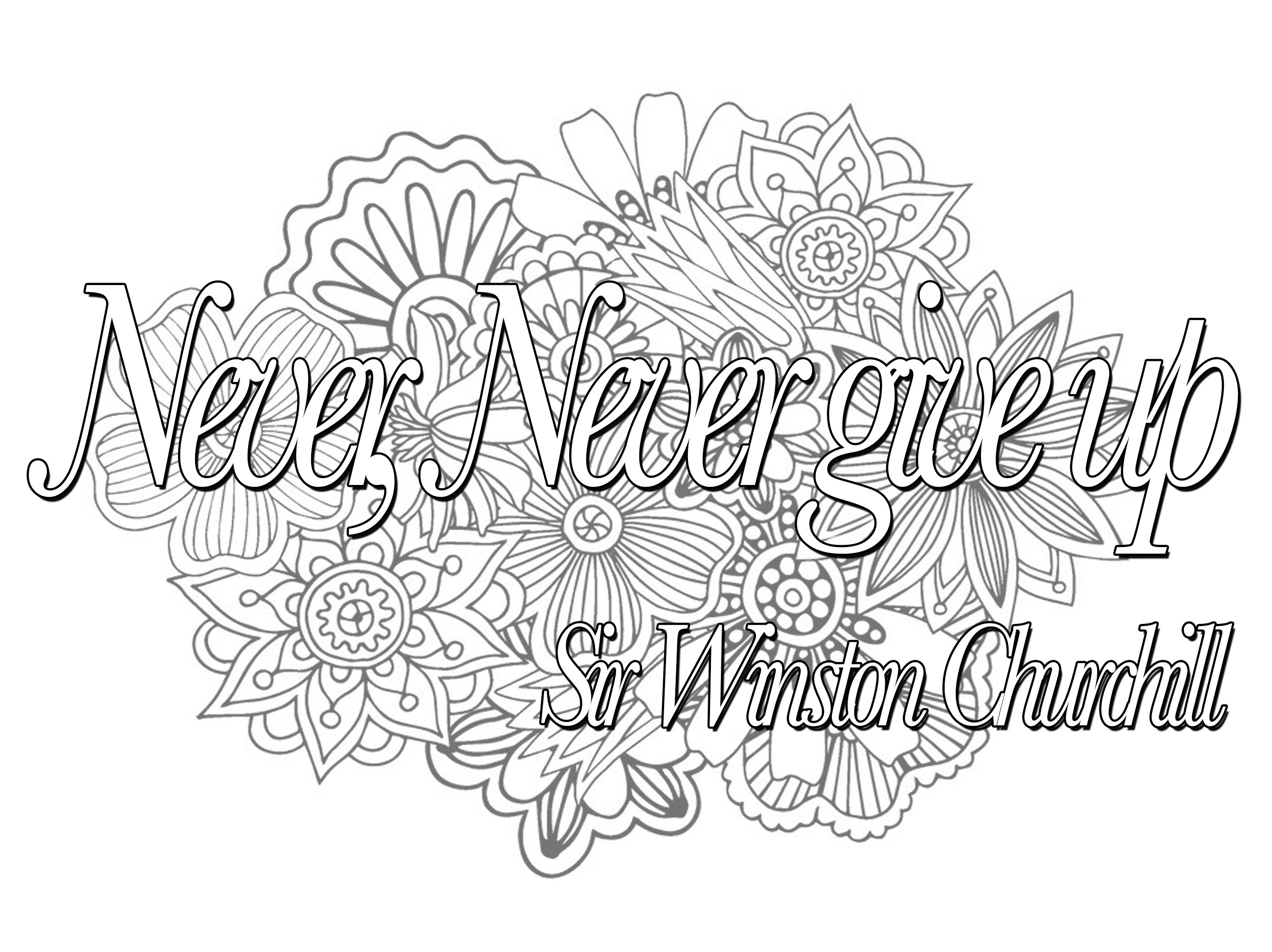 Coloring pages with quotes - Download