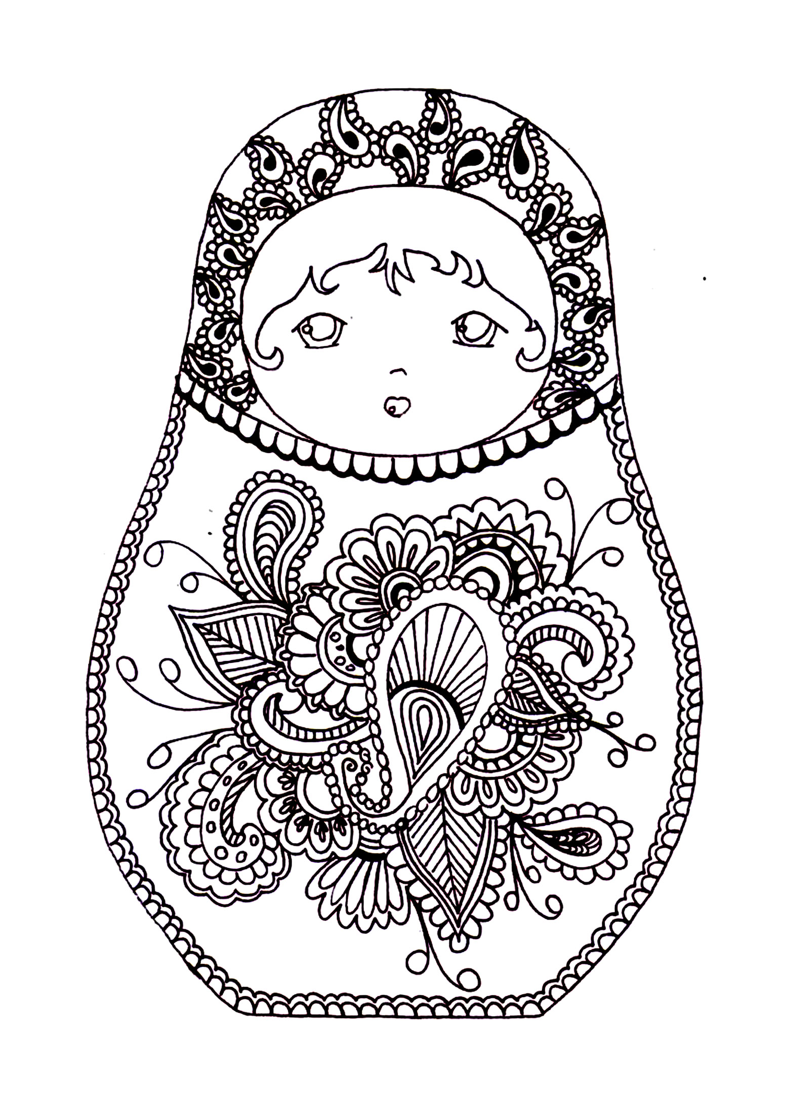 coloriage russie maternelle