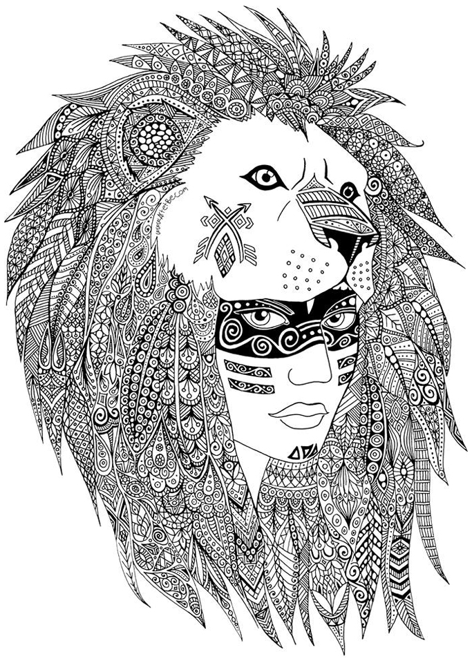Zentangle sabrina - Zentangle Adult Coloring Pages - best of indian tribal coloring pages