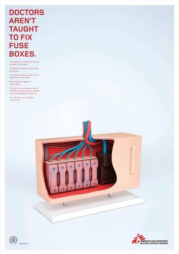 Medicins Sans Frontiers Filing Cabinet, Tap, Fuse Box, Carburetor