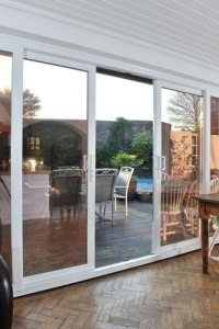 White Patio Doors, 4 Pane UPVC Sliding