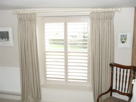 Shutters curtains and poles just curtains
