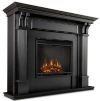 Ashley 7100E Worn Black Electric Fireplace - Just Fireplaces