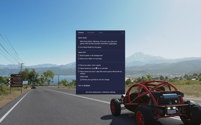 Game Mode Windows 10 GDC 2017