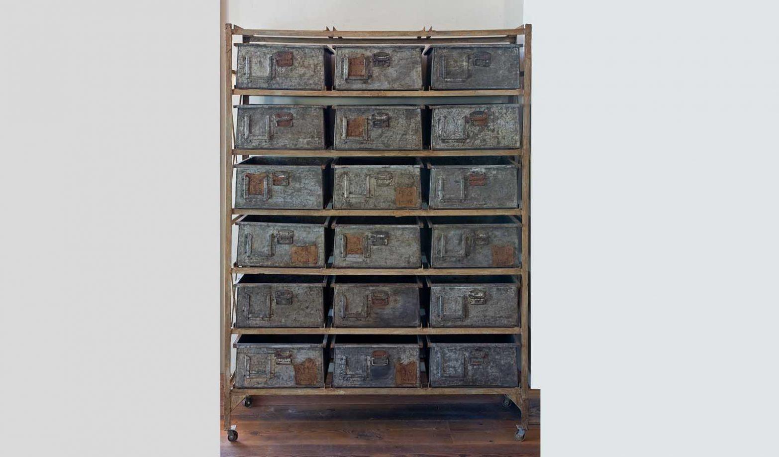 Industrial Metal Drawer Cabinet Just Folk