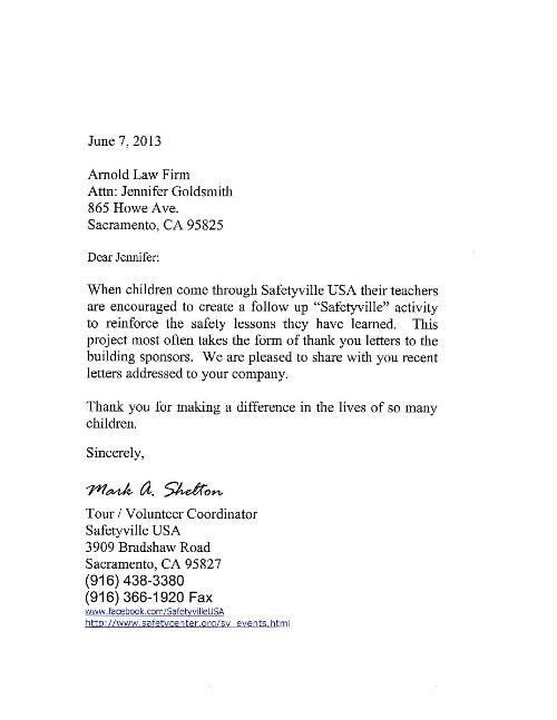 Sponsorship Thank You Letter Art Resume Skills Sponsor Thank You