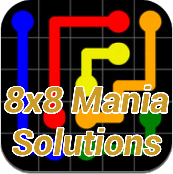 Flow Mania 8x8 Solutions